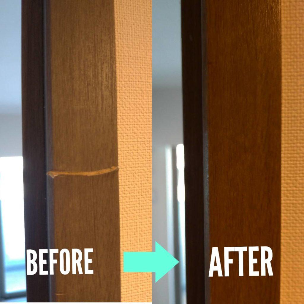 扉の枠補修