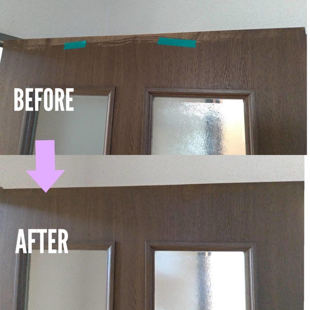 木製扉塗装剥がれ補修