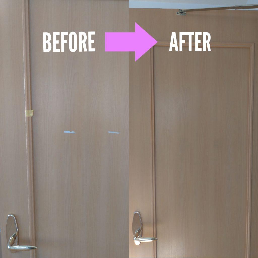 室内ドア剥がれ補修