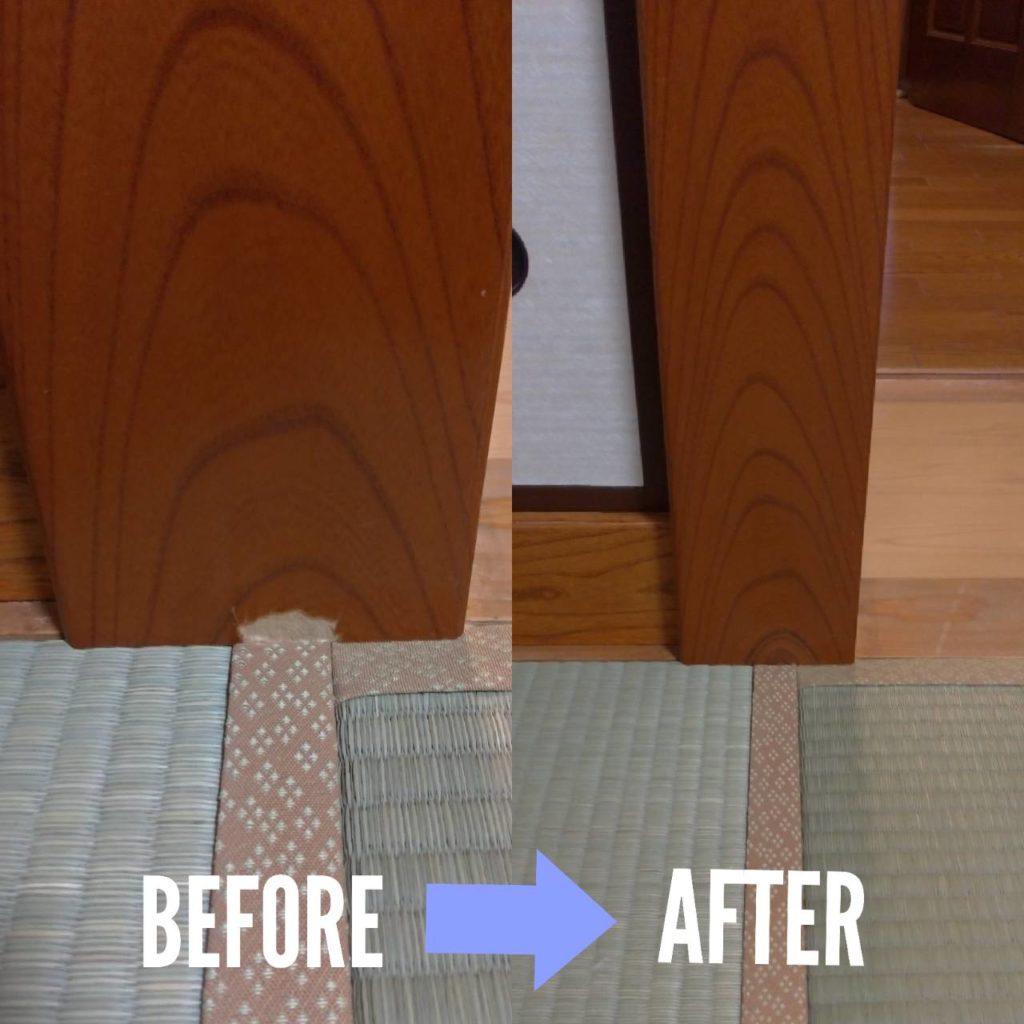 和室床柱補修