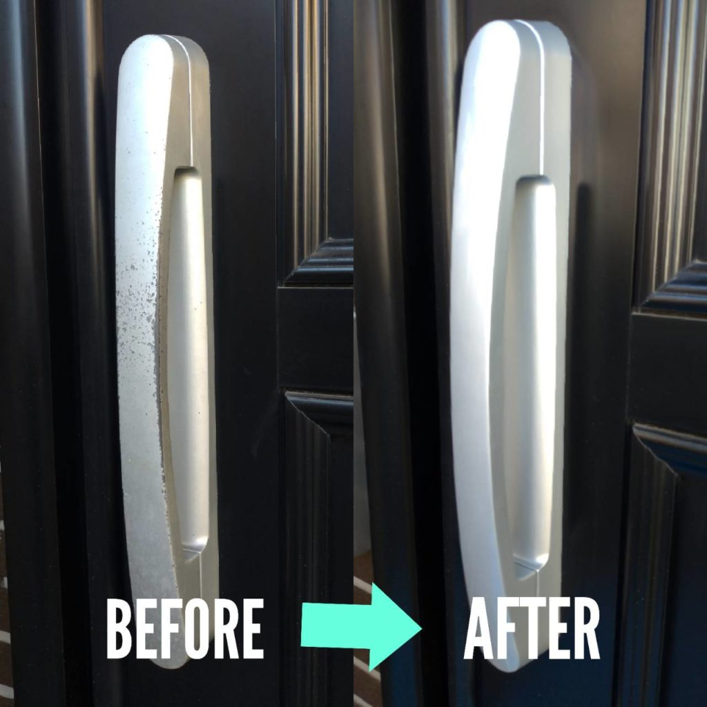 玄関扉塗装補修