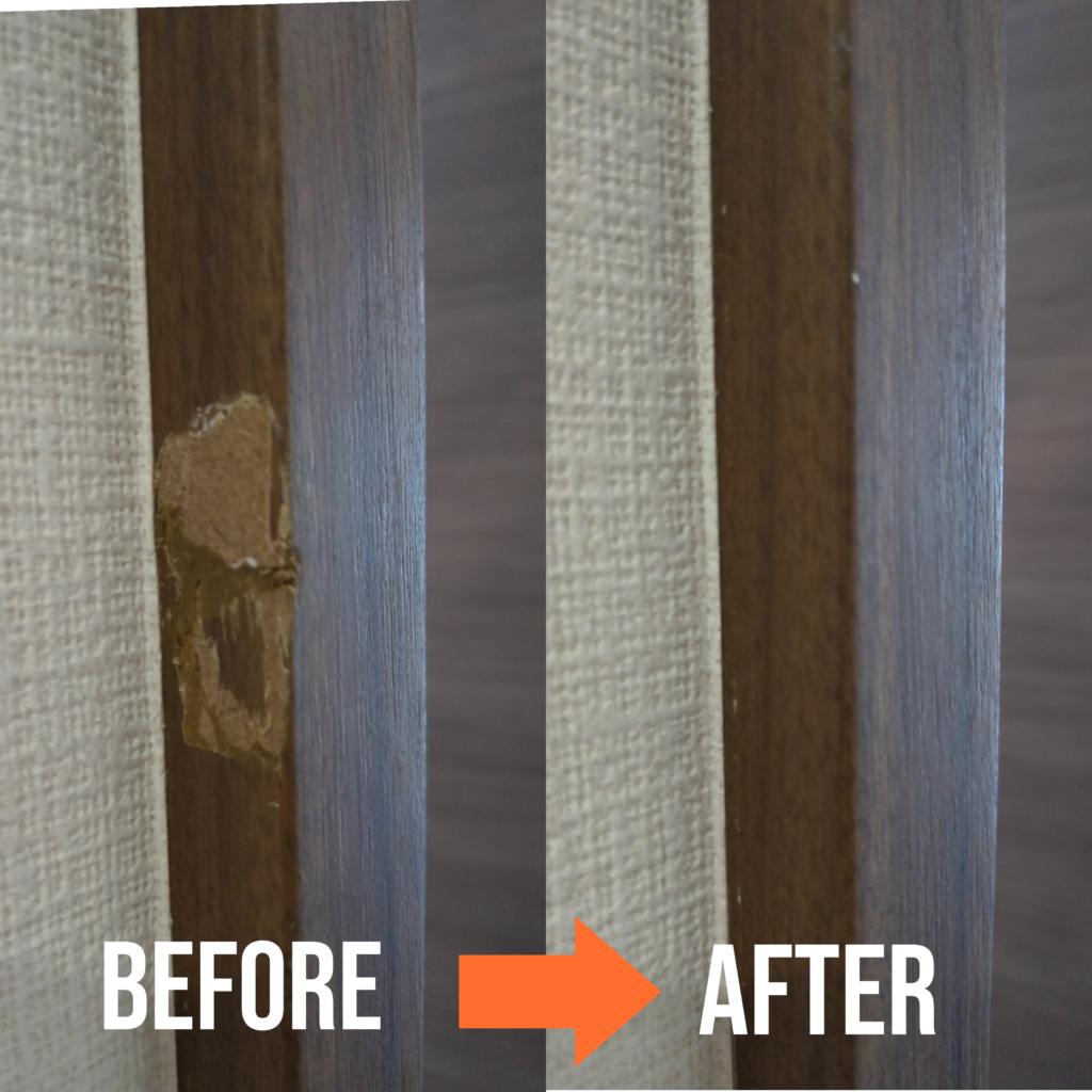 木製扉の建具枠リペア補修