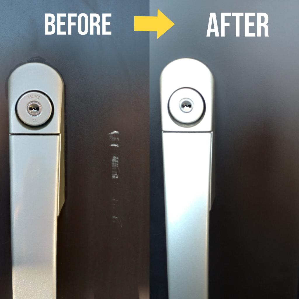 玄関ドア修理塗装リペア