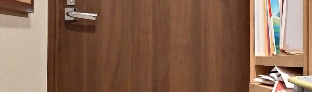 木製建具扉パンチ穴補修/東京都江戸川区