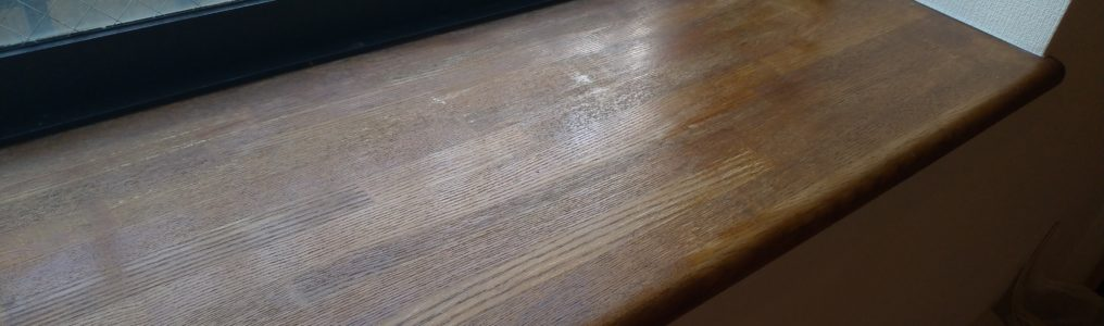 現状回復窓枠カウンター再塗装補修/埼玉県三郷市