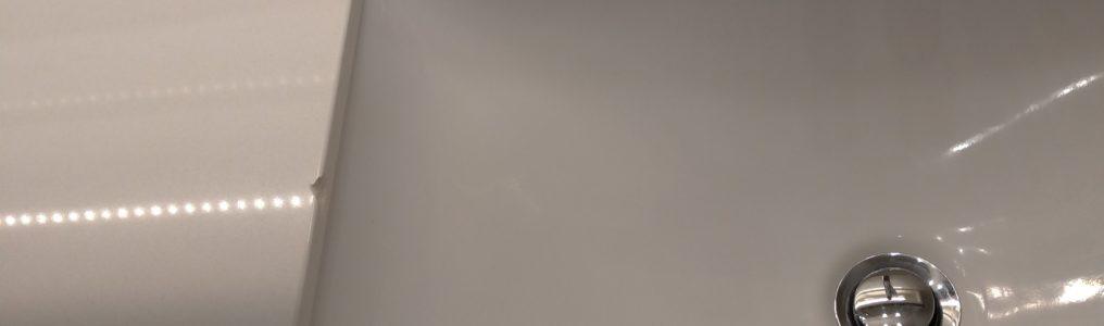 洗面ボウル欠けリペア補修/千葉県市川市