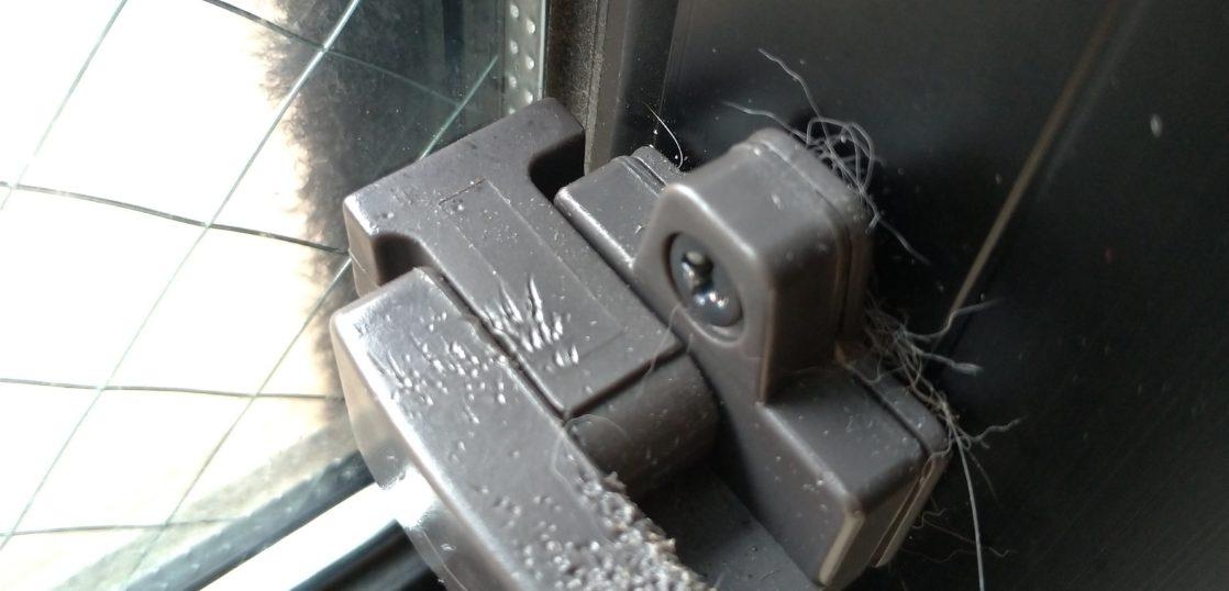 サッシ窓の樹脂製操作レバー補修/東京都文京区