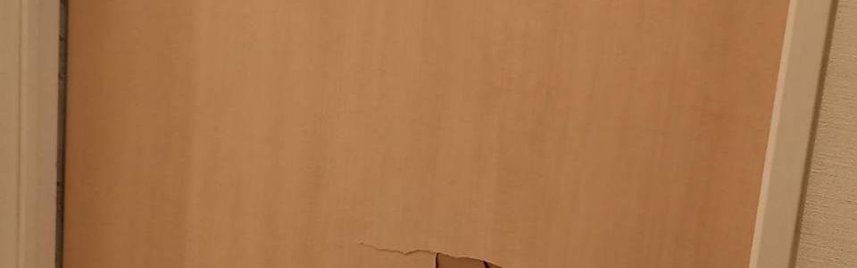 室内ドアパンチ穴修理補修/東京都渋谷区