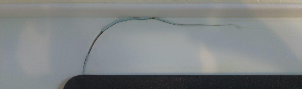 人工大理石キッチン天板ひび割れ補修/千葉県習志野市